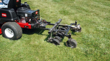 "Picture of FREE SHIPPING! 753E JRCO 38"" Tow Behind Hooker Aerator Includes Hitch"