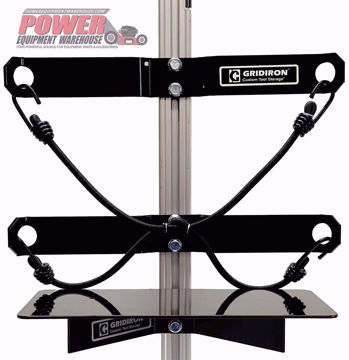 Gridiron universal holder, trailer equipment holder, trailer storage