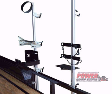 Gridiron Universal Backpack Blower Rack, Universal trailer Backpack Blower Rack, trailer storage